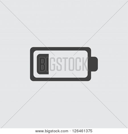 low battery icon, isolated on white background illustration