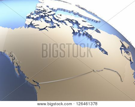 Canada On Metallic Earth