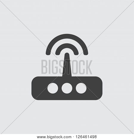 router icon, isolated on white background illustration