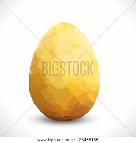 Golden egg. Vector egg design template. Modern Vector golden illustration eps10. Premium editable golgen egg template for your design. Isolated Easter egg template. Easter card stylish design