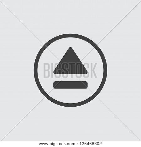 eject icon, isolated on white background illustration