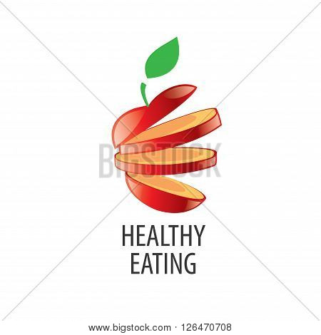Logo pattern of healthy eating. Vector illustration