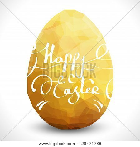 Golden egg with text. Vector egg design template. Modern Vector Happy Easter illustration eps10. Premium editable golgen egg template. Isolated Easter egg template. Easter greeting card stylish design
