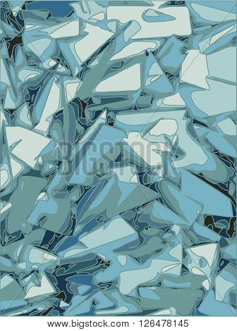 abstract chaotic background in different blue shades