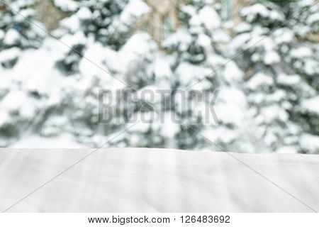 Beautiful winter background with sunlight