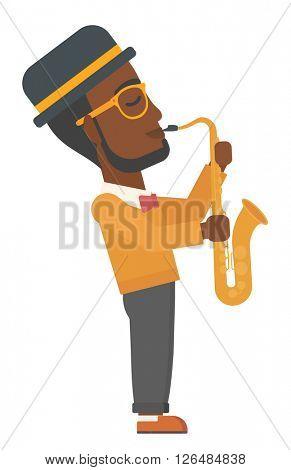 Man playing saxophone.