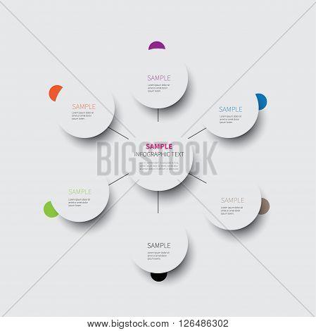 circle chart made from circles options mindmap