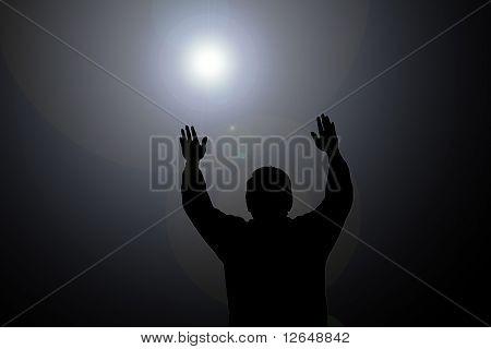 Sun Beam On Man