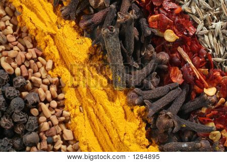 Abstract Curry Spices