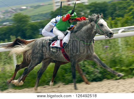 Horse racing for the prize Salamov in Pyatigorsk,Caucasus,Russia.
