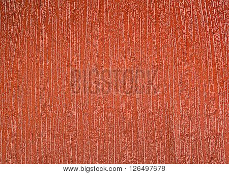 The characteristic appearance of a surface with warm feeling.