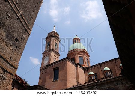 BOLOGNA, ITALY - JUNE 04: Saint Bartholomew church in Bologna, Italy, on June 04, 2015.