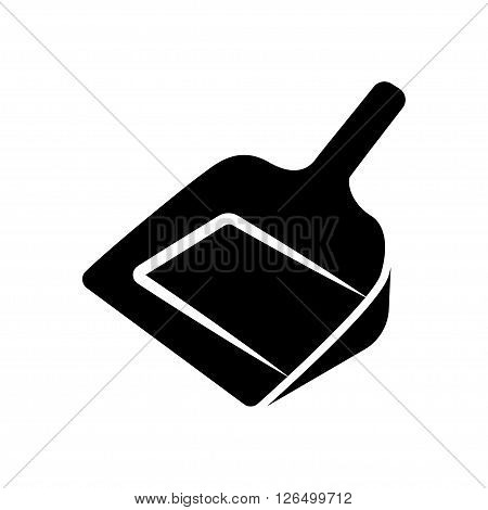 Dustpan icon in flat style. Vector illustration. Vector symbols.