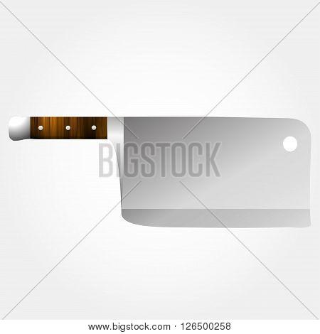 Vector short meat axe. Realistic vector instrument