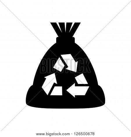 Refuse bag icon in flat style. Vector illustration. Vector symbols.