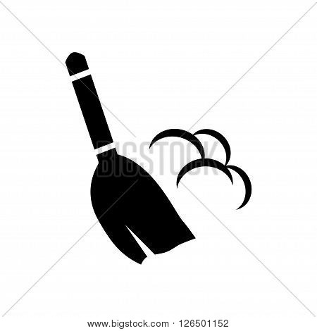 Broom icon in flat style. Vector illustration. Vector symbols.