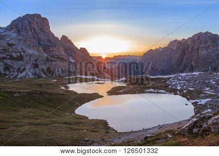 Italy Alps Dolomites - Tre Cime - Lago dei Piani