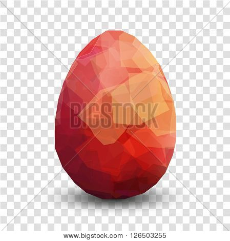 Red Easter egg. Vector egg transparent design template. Modern Vector red egg illustration. Premium editable red egg template for your design. Isolated Easter egg template on transparent background.