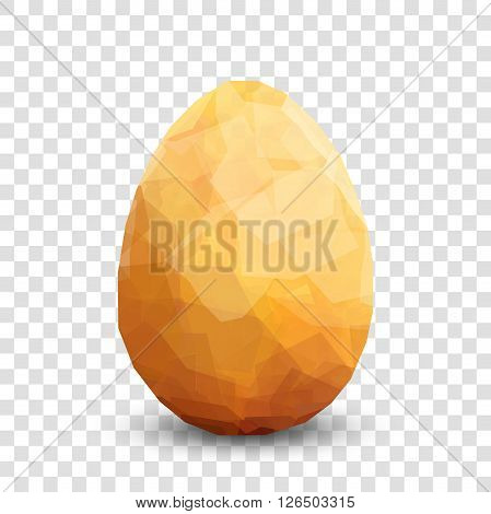 Golden egg. Vector egg transparent design template. Modern Vector golden illustration. Premium editable golgen egg template for your design. Isolated Easter egg template on transparent background.