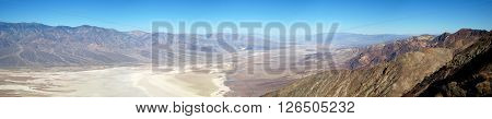 Ultra wide panorama of Death Valley National Park (California, USA)
