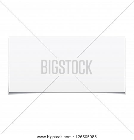 White sheet of paper. Vector realistic sheet of paper.