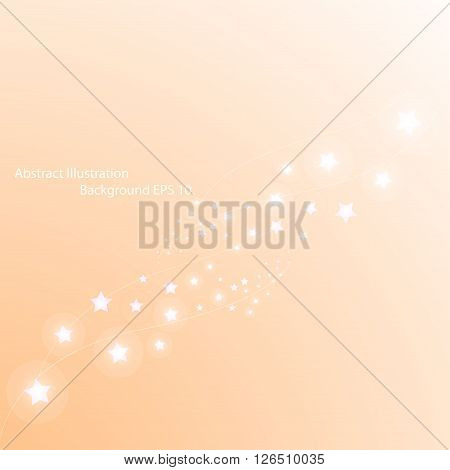 Magic stars way. Abstract light vector background.