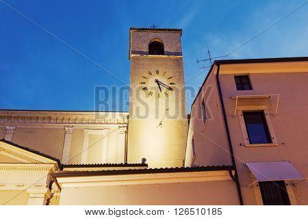 Clock tower in Desenzano del Garda. Desenzano del Garda Lombardy Italy.