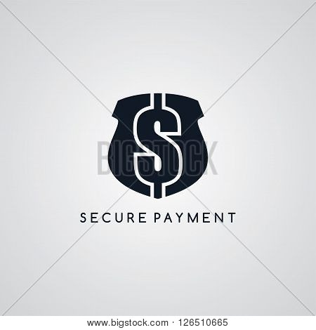 secure payment logotype protection theme vector art illustration