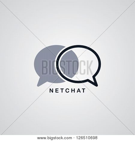 network chat logotype theme vector art illustration