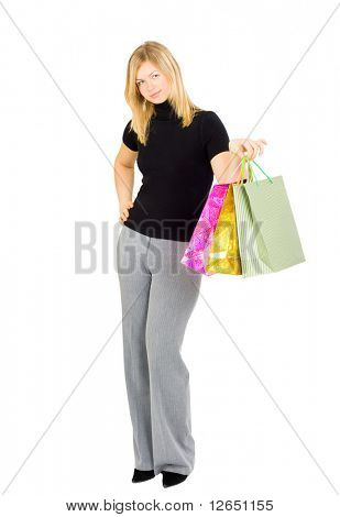 "smiling happy shopping lady  - See similar images of this ""Gorgeous shopping women"" series in my portfolio"