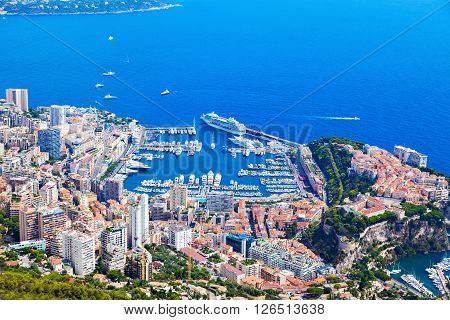 Monaco architecture - aerial view of the city. Monaco.