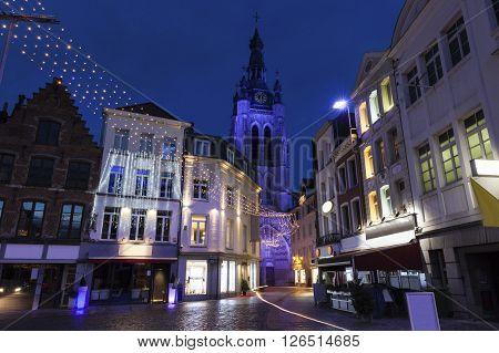 Old town in Kortrijk. Kortrijk Flemish Region Belgium
