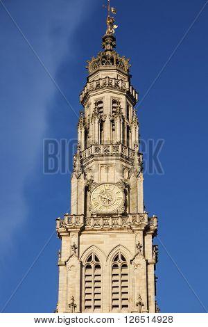 Arras Town Hall on Place des Heros. Arras Nord-Pas-de-Calais-Picardy France.