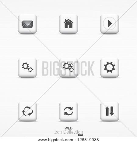 Web icon collection.  Communication icons for your design and ideas.