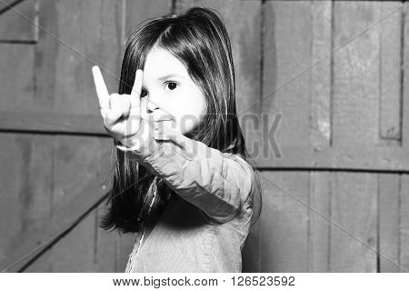 Little Girl With Gesture