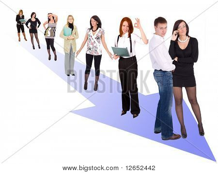 "moving the right direction  - See similar images of this ""Business People"" series in my portfolio"