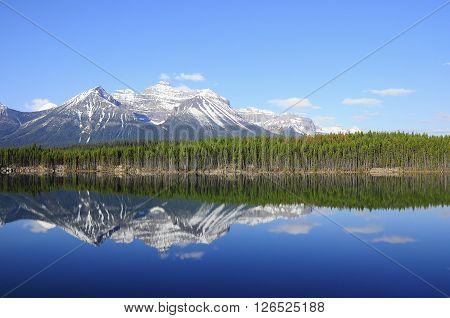 Herbert Lake. Banff National Park. Canadian rockies.