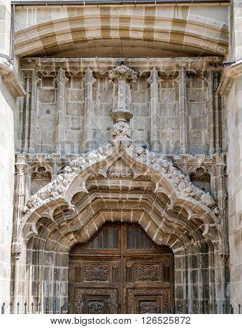 Black church's gate, Brasov city, Romania  landmark architecture