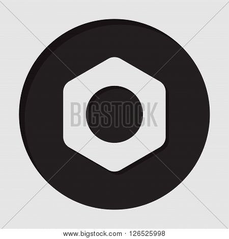information icon - dark circle with white nut and shadow