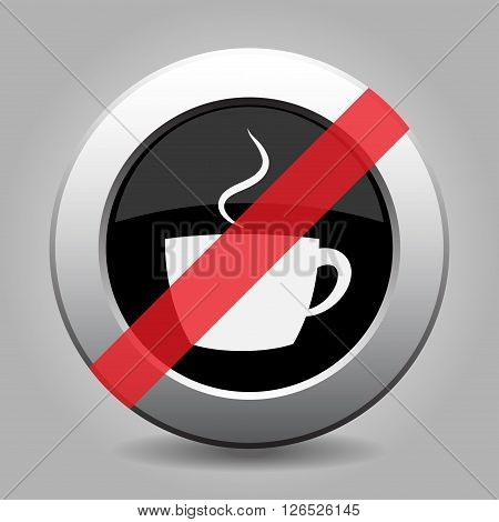 gray chrome button with no cup with smoke - banned icon