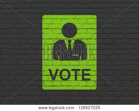 Political concept: Ballot on wall background
