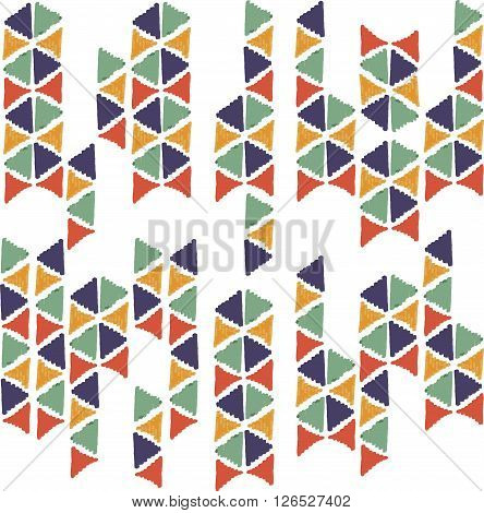 Abstract Seamless Hand Draw Pattern Triangle