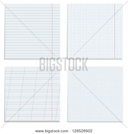 Set of paper sheets. 4 different paper sheets for your design and ideas.