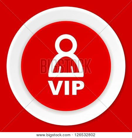 vip red flat design modern web icon
