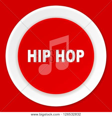 hip hop red flat design modern web icon