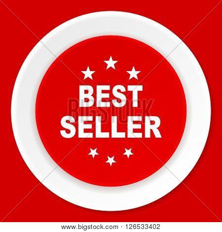 best seller red flat design modern web icon