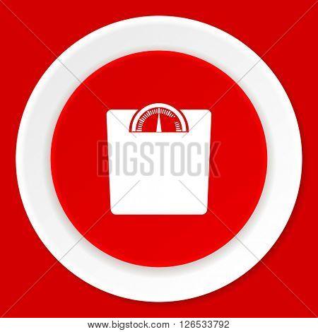 weight red flat design modern web icon