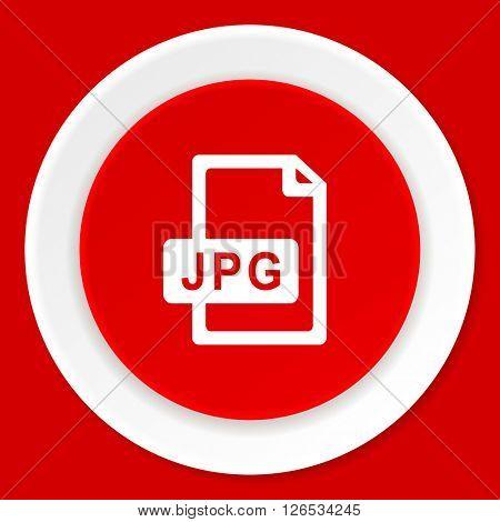 jpg file red flat design modern web icon