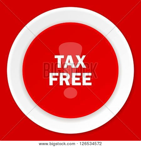 tax free red flat design modern web icon