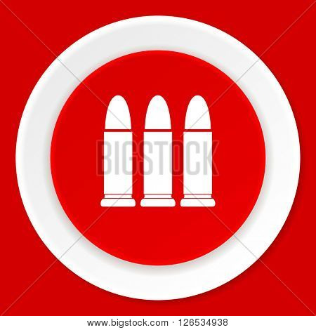 ammunition red flat design modern web icon